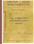 Browning Automatic Rifle Model 1918A2 Field Manual